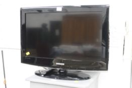 """Samsung 26"""" flat screen television set with remote control"""