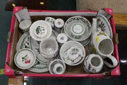 Box of Portmeirion botanic garden bowls, plates, vases etc 20+ pieces.