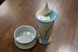Two pieces of studio pottery,