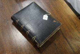 Victorian photograph album of portrait photographs