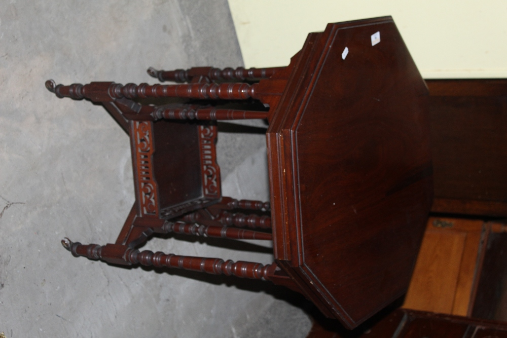 An Edwardian mahogany octagonal occasion - Image 2 of 2