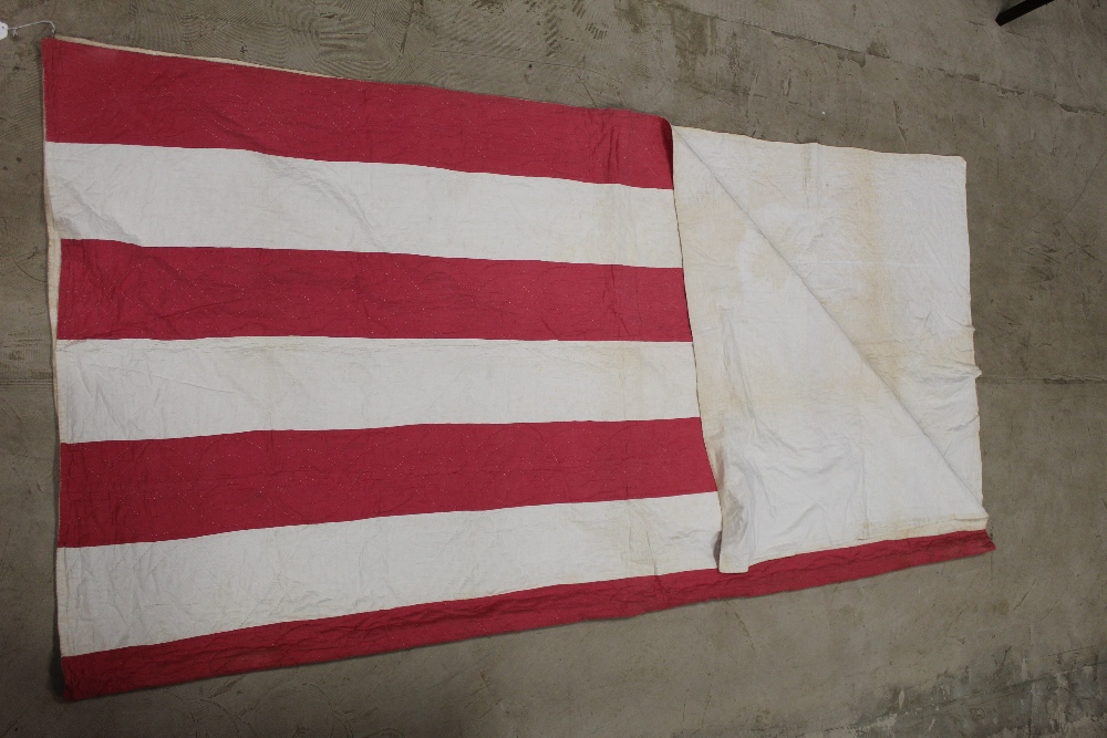 A Victorian red and white striped hand s