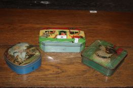 A group of three vintage confectionary t