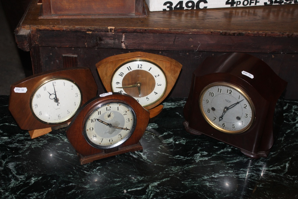 A group of four 1930's and later mantle
