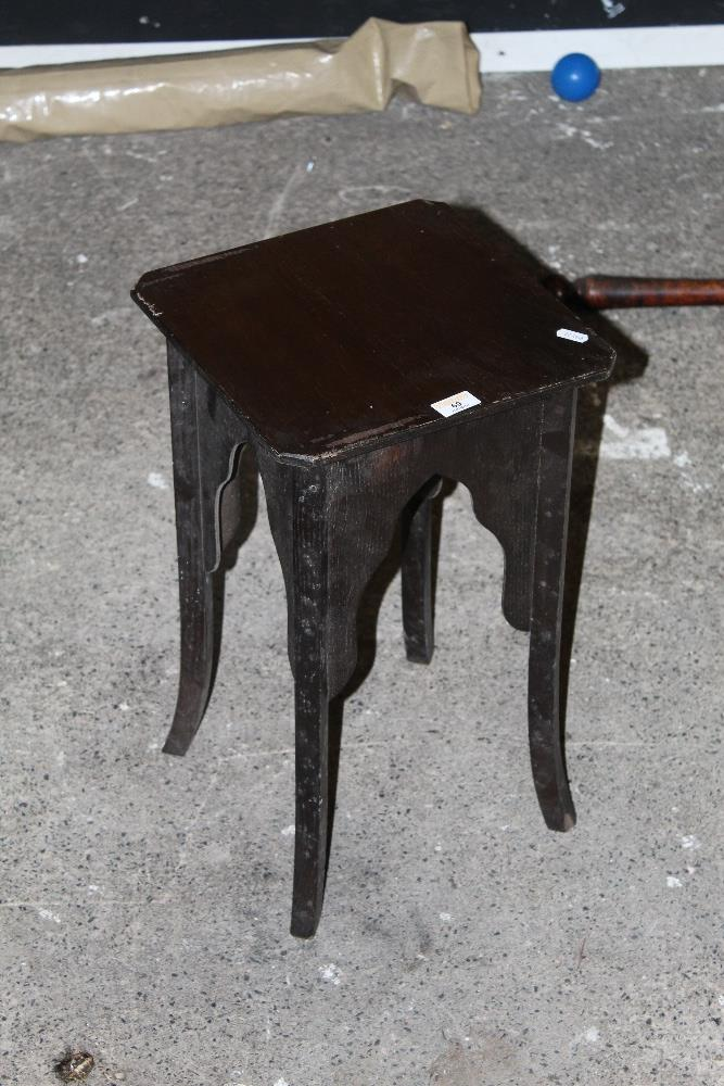 An early 20th century occasional table,