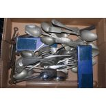 A selection of miscellaneous silver-plat