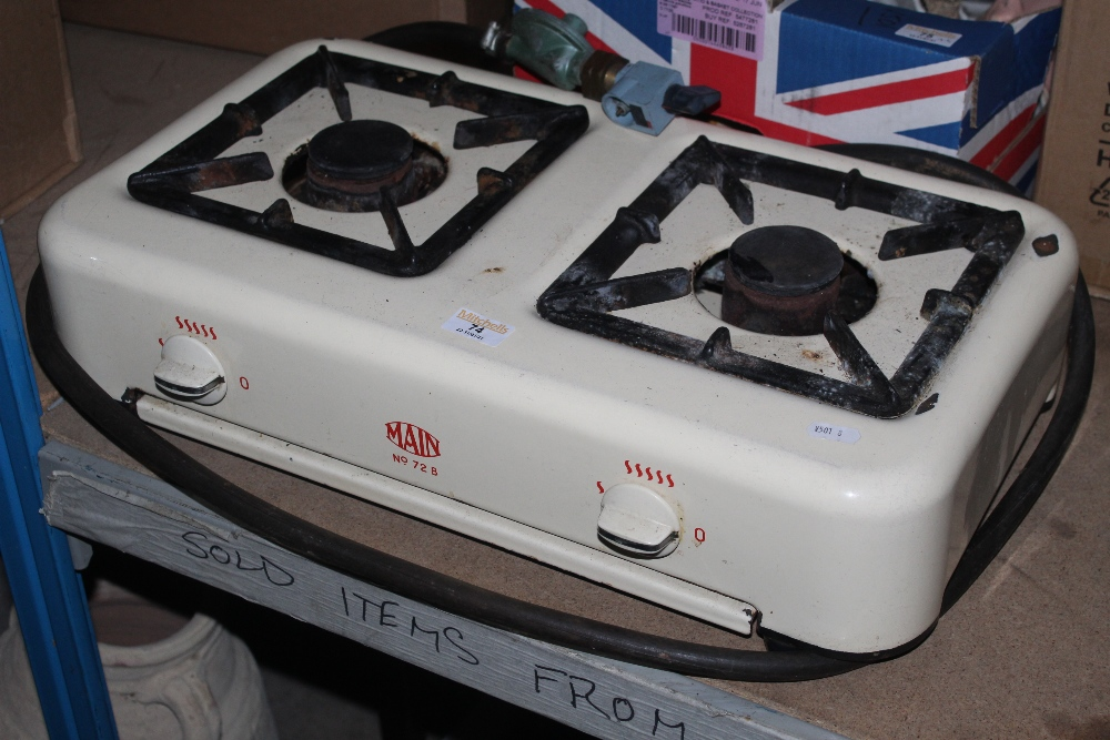 A Main 72B calor gas two ring hob, in cr