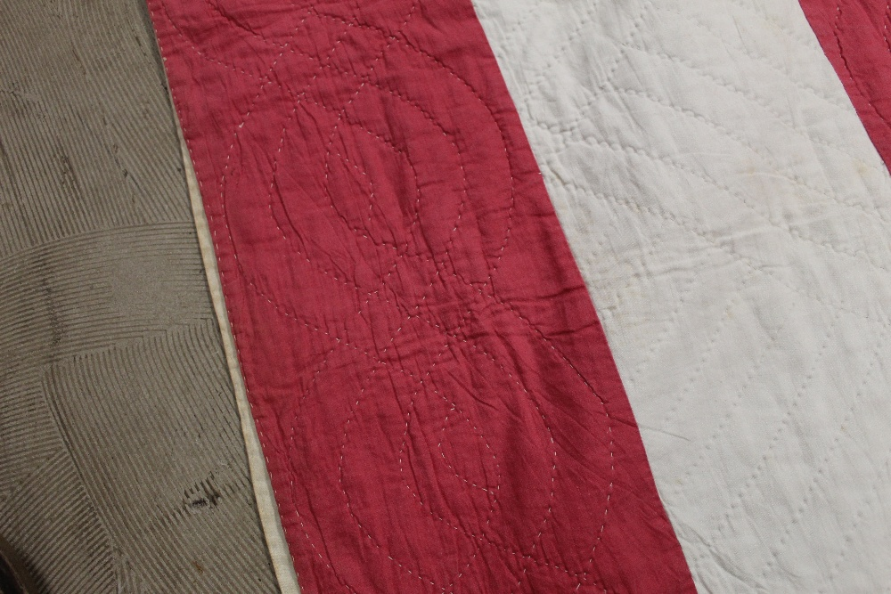 A Victorian red and white striped hand s - Image 3 of 4