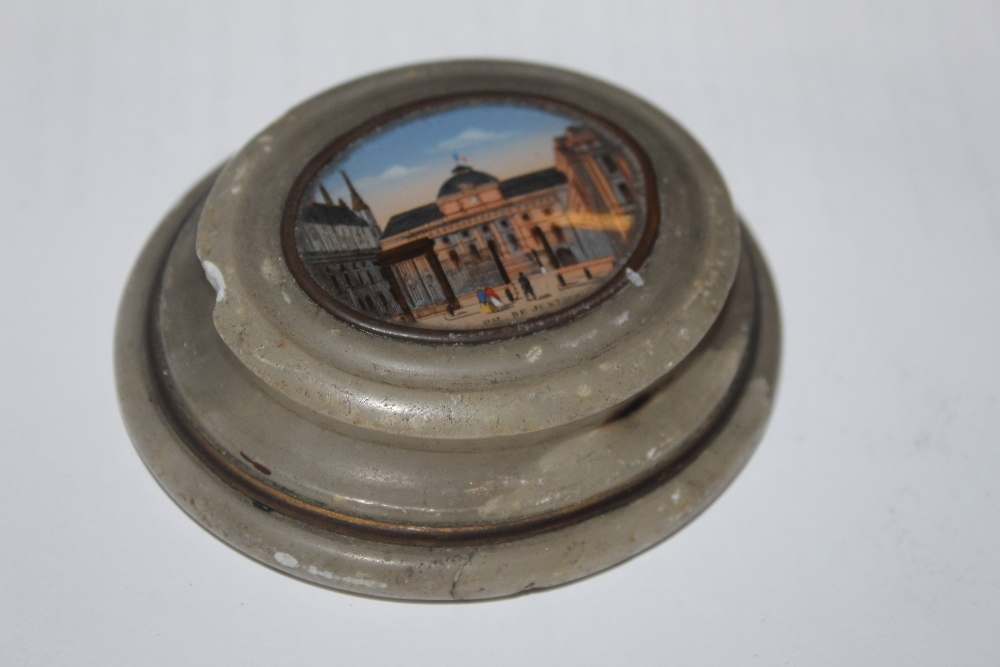 A 19th century French oval alabaster pap
