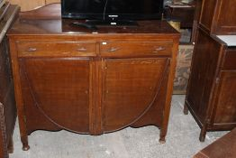 A 1940's oak utility sideboard, with two