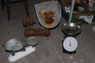 A group of three various scales, to incl