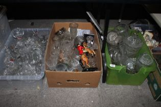 Three boxes of miscellaneous cut and pre
