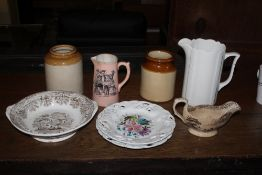Three boxes of miscellaneous china and p