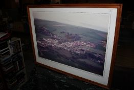 An Aerial photograph of St Bees village,