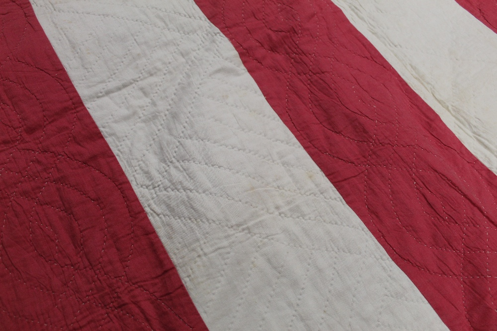 A Victorian red and white striped hand s - Image 2 of 4