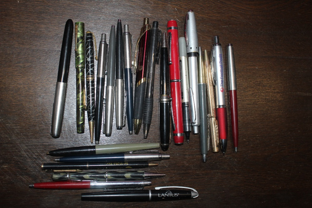 A selection of various pens, to include