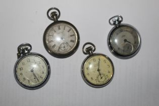 A group of four pocket watches, to inclu