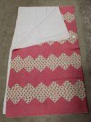 A Victorian style machine stitched quilt