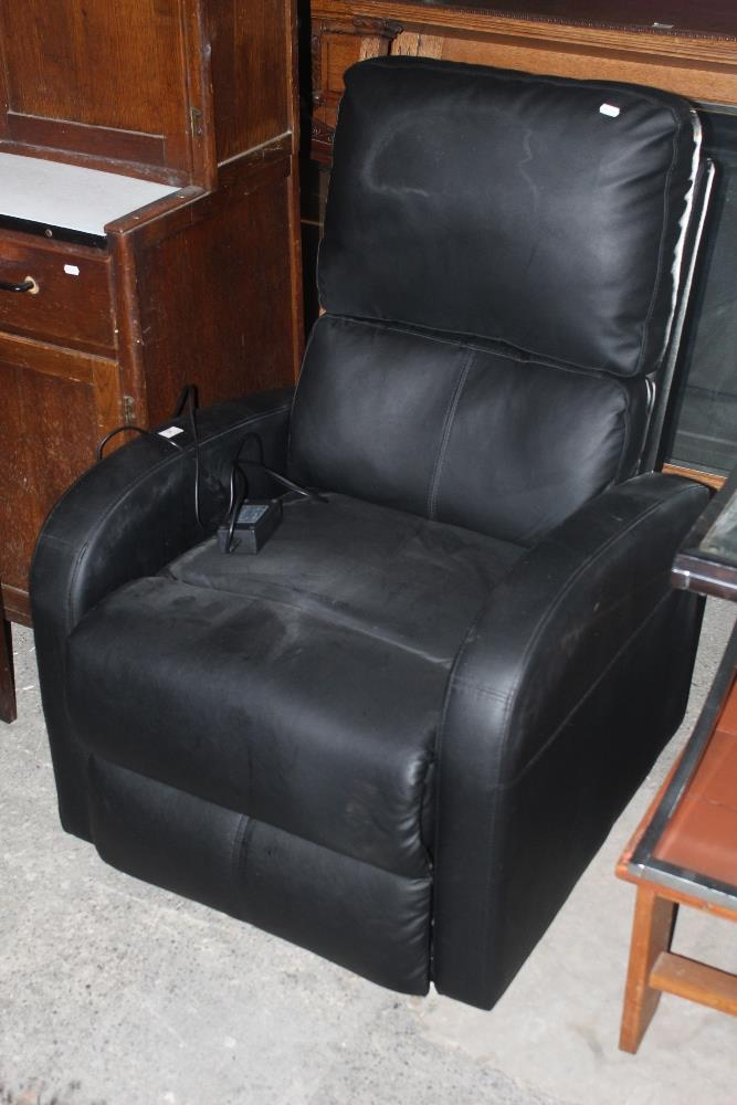 A modern leather effect electric recline