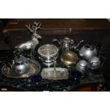 A selection of silver-plated wares, to i