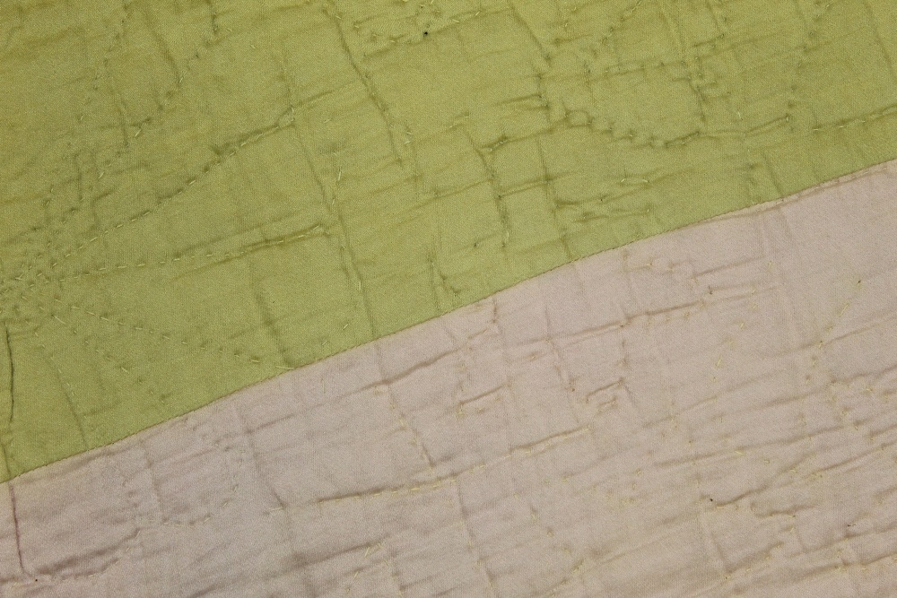 A late Victorian hand stitched patchwork - Image 6 of 6