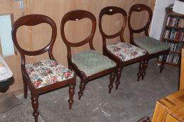 A set of four Victorian balloon back din