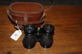 A pair of French field binoculars, marke