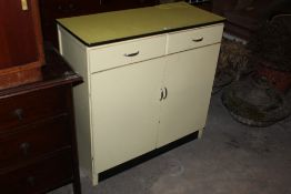 An 1950's cream painted and yellow melam