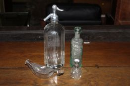 An Owens of Hereford glass soda syphon,