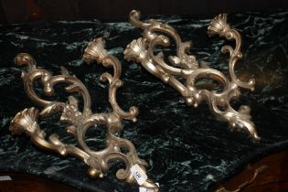 A pair of reproduction Rococo style wall