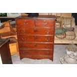 A late Victorian/Edwardian stained pine