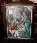 """A Victorian coloured print, entitled """"Pa"""