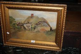 An early 20th century oil on canvas, dep