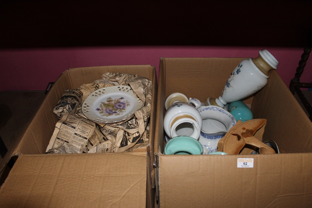 A quantity of miscellaneous china and gl