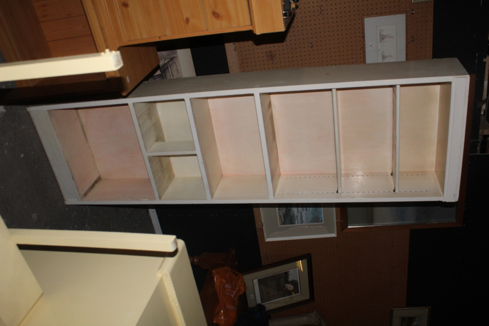 A tall slender white painted bookcase, w - Image 2 of 2