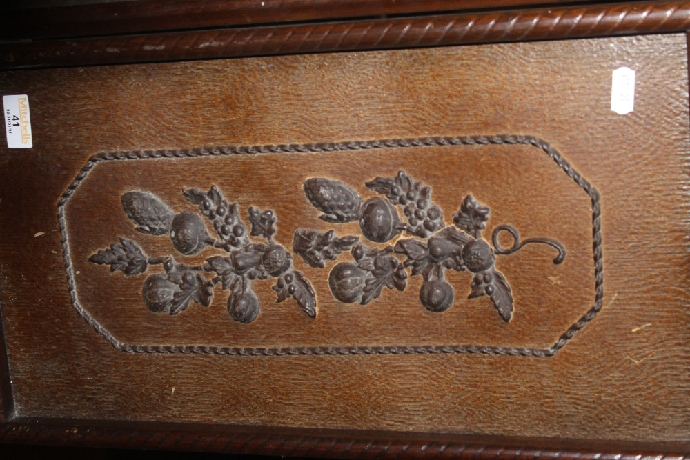 An early 20th century oak and decorated - Image 2 of 2