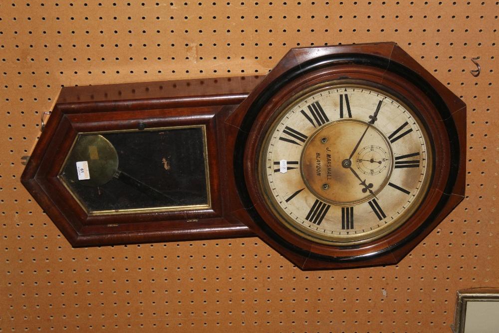 A Victorian drop dial mahogany regulator - Image 2 of 2