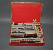 A group lot of Trix Twin Railway train set and accessories.