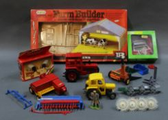 A group lot of Britain's plastic and diecast model vehicles and accessories,