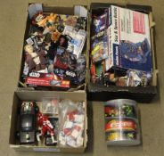 A group lot of miscellaneous toys, mostly Star Wars,