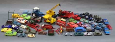 A group lot of mixed diecast and plastic models to include Dinky, Tekno, Matchbox, Bradscar Hove,