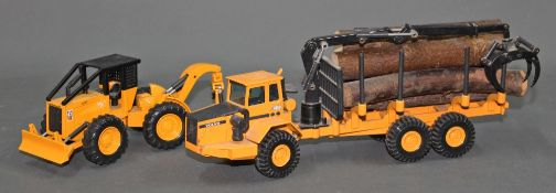 Two Joal scale models of construction vehicles,
