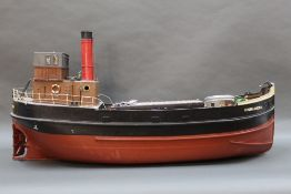 A kit built Highlander Clyde puffer ship,