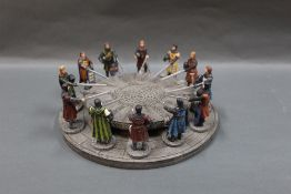 A resin Sculptures UK Knights of the Round Table collectable model,