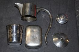 An Edward VII silver claret jug mounts,
