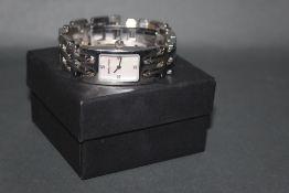 A George Jensen wrist watch design by Kindt Larsen,