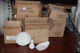 A quantity of miscellaneous hotel china,