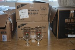 Two boxes of Birra Moretti laser nucleat