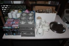 A selection of miscellaneous hotel cups,
