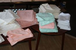 A quantity of napkins and table linen.